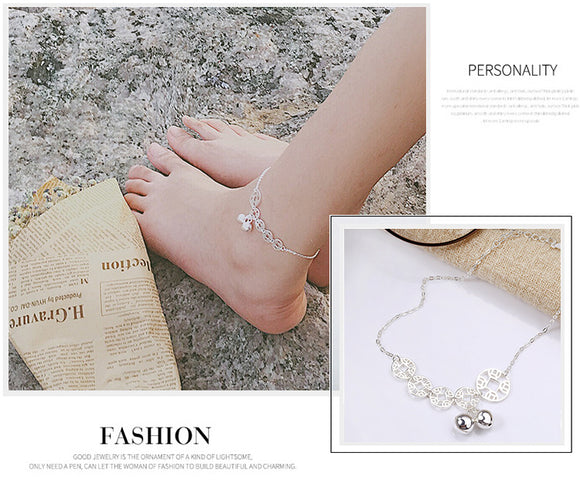silver ankle bracelet anklet UK London