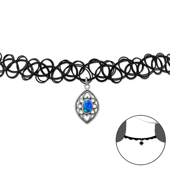 choker silver necklace for women in UK London