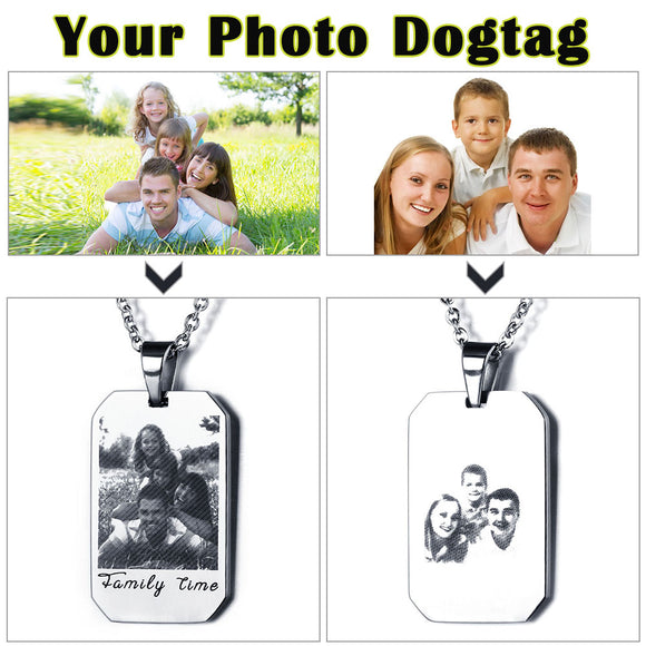 personalised silver photo necklace UK London