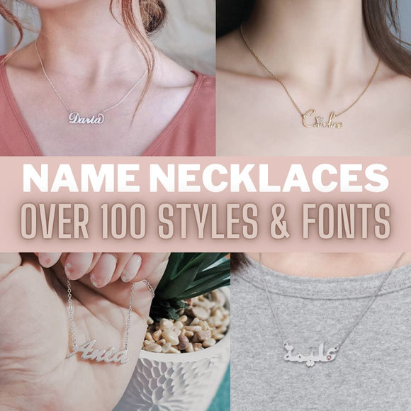 personalised name necklace UK London