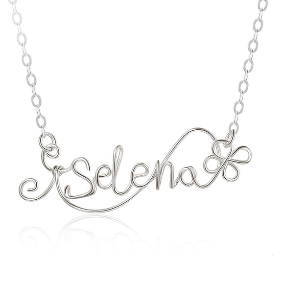 Personalised handmade sterling silver name necklace  Gift of LOVE, a beautiful gift for her, this bespoke name necklace is handmade from 925 sterling silver
