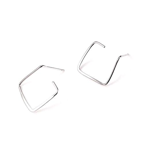 sterling silver earrings, sterling silver earrings for women, ladies sterling silver earrings, handmade jewellery, contemporary jewellery