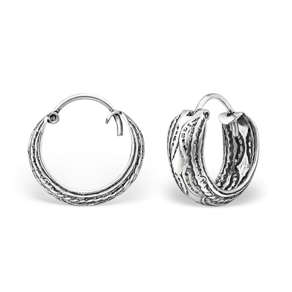 sterling silver earrings, sterling silver earrings for women, ladies sterling silver earrings, handmade jewellery, contemporary jewellery, silver hoops
