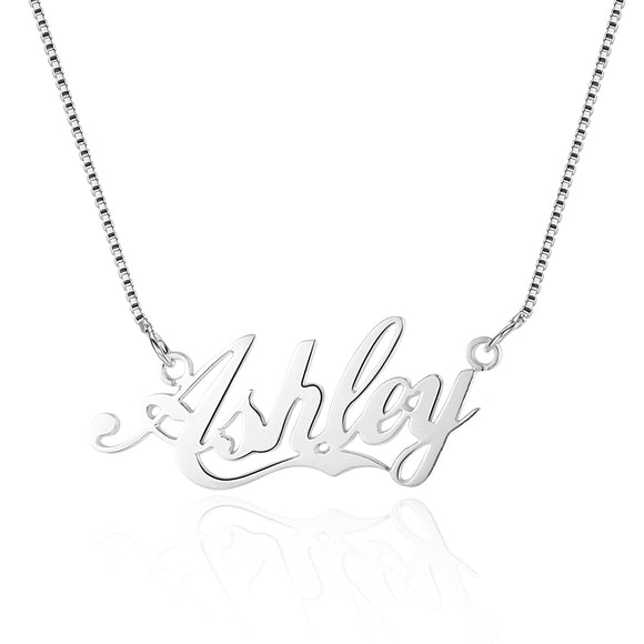 personalized customized bespoke 925 sterling silver name Necklace