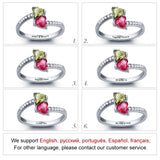 personalised silver Birthstone Ring for women UK