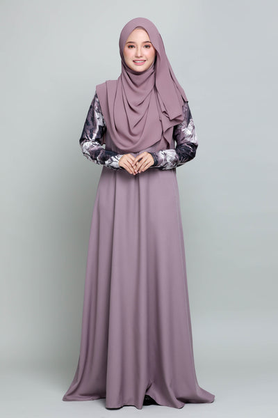 Jubah Anisha - Dusty Purple