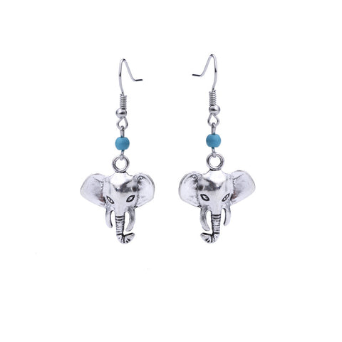 Antique Silver Elephant Earring