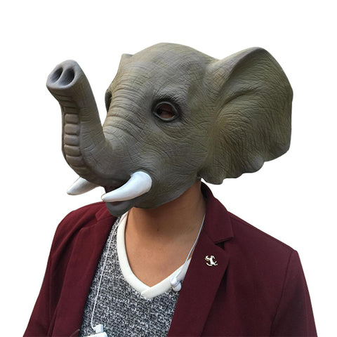 Halloween Elephant Latex Mask
