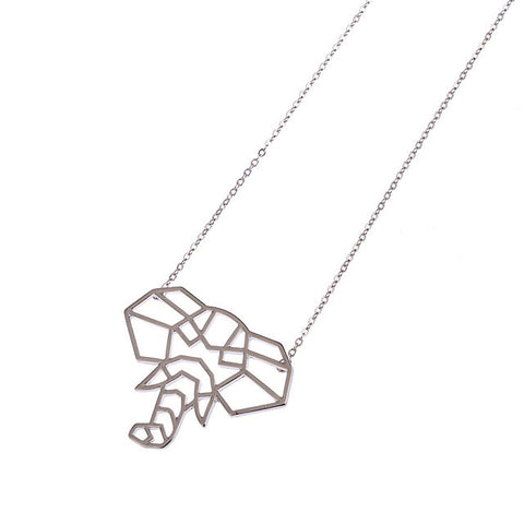 Elephant Geometric Necklace