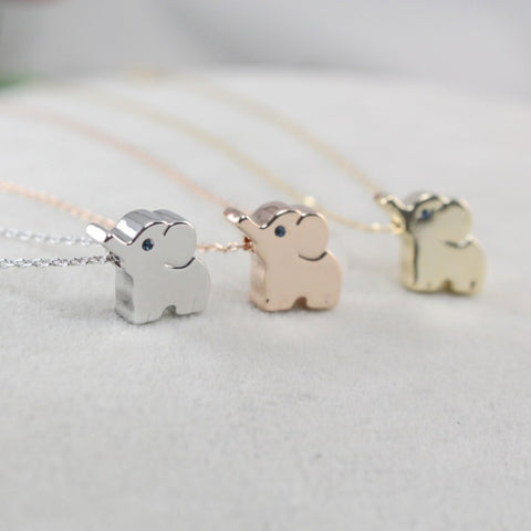 Cute Elephant Pendant Necklace