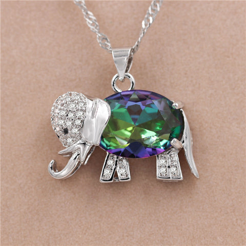 Colorful Elephant Necklace