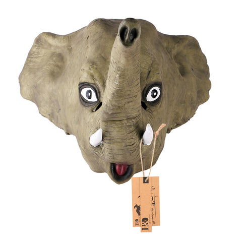 Halloween Full Latex Face Mask Elephant