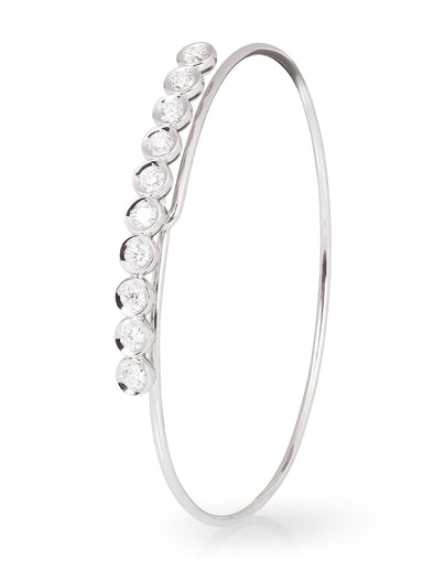 Lab Grown Diamond Bracelet in White Gold