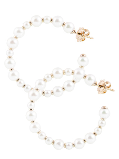 Akoya pearls earrings hoops