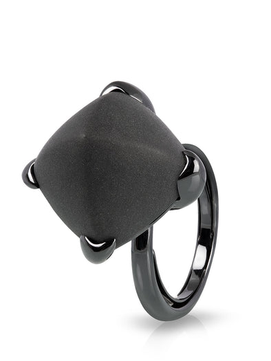 Black Onyx Simple Ring
