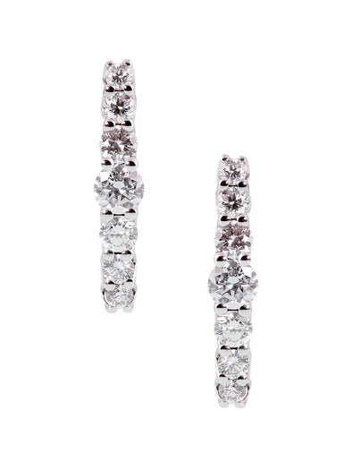 diamond earclips in 18K carat white gold