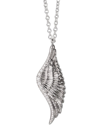 The Wing Necklace in White Gold