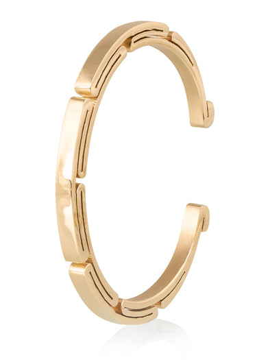 Folded stainless steel bracelet gold plated