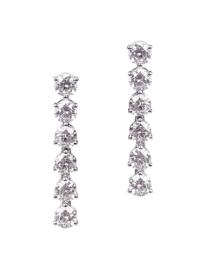 Full Diamond Row Earrings