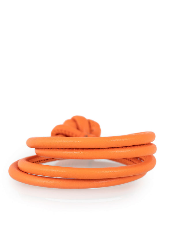 Leather Bracelet Orange