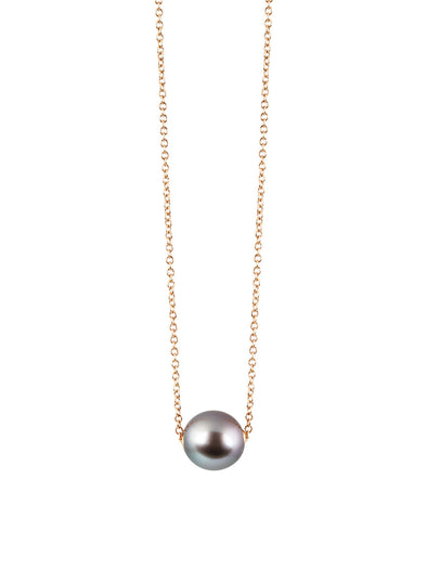 tahitian pearl necklace in 18K rose gold