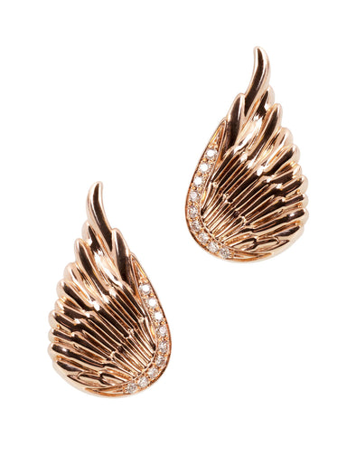 The Wing Earrings in Rose Gold