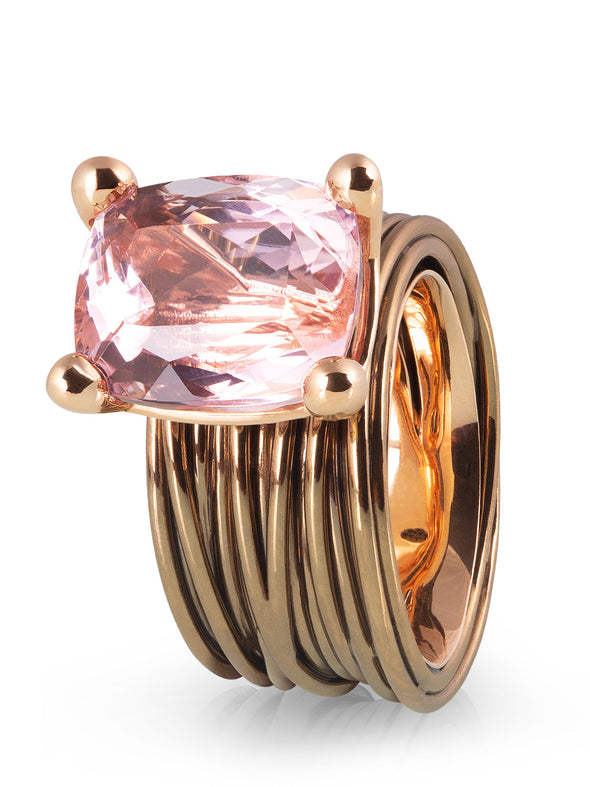 The Wire Ring with Kunzite