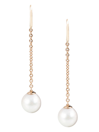 white south sea pearl earrings in 18K rose gold