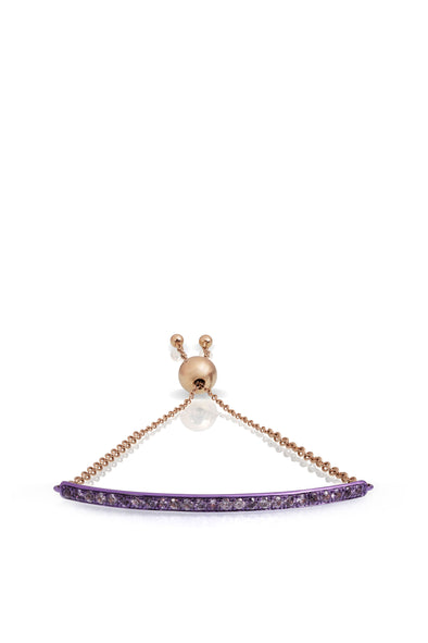 Bridge Bracelet in Purple