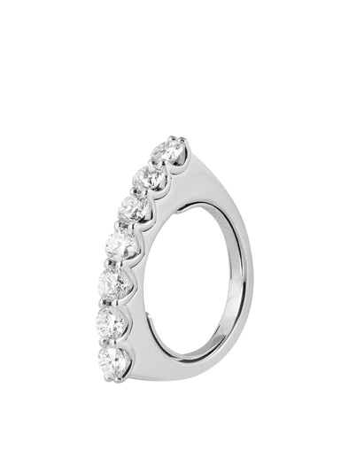 Simple Diamond Ring White Gold