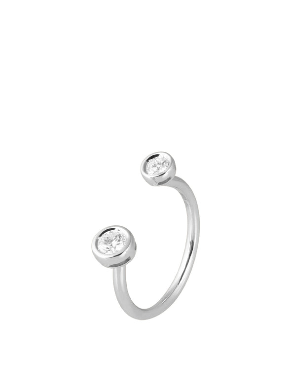 Simple Wire Diamond Ring White Gold