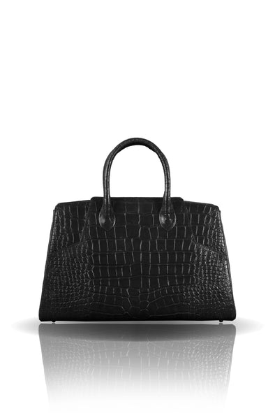 Day Bag in Black Leather
