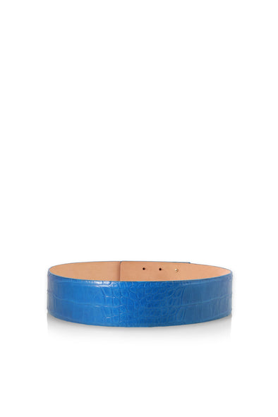 Leather Belt in Blue