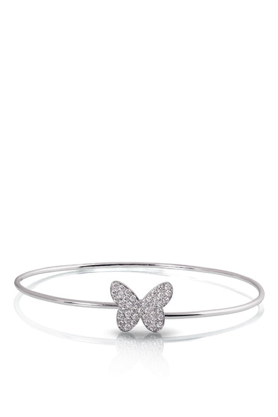 white gold butterfly bracelet with diamonds