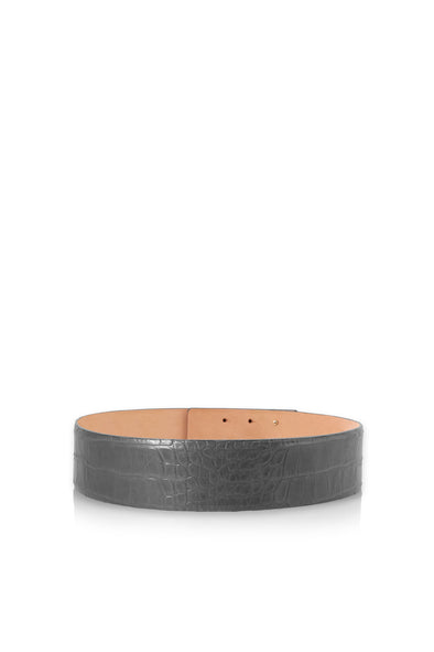 Leather Belt in Gray