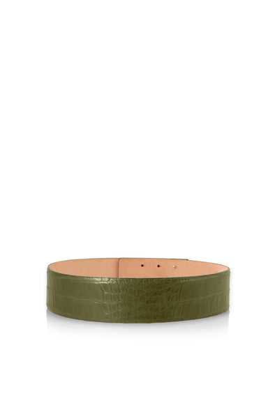 Leather Belt in Khaki