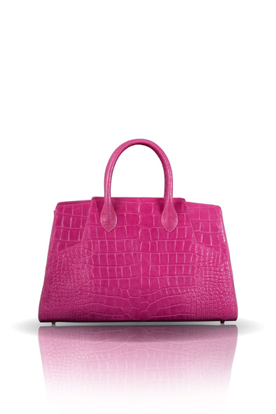 Day Bag in Pink Leather
