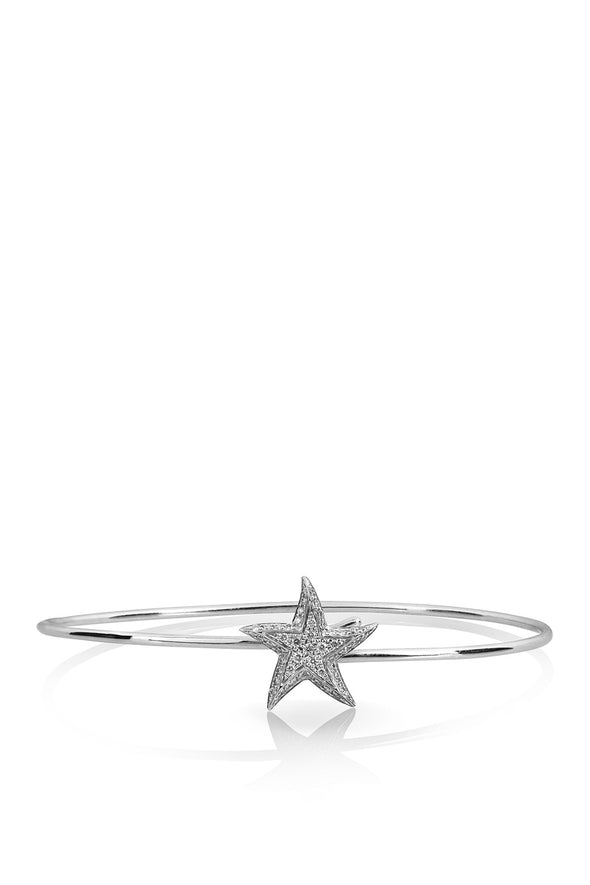 Star Bracelet in White Gold