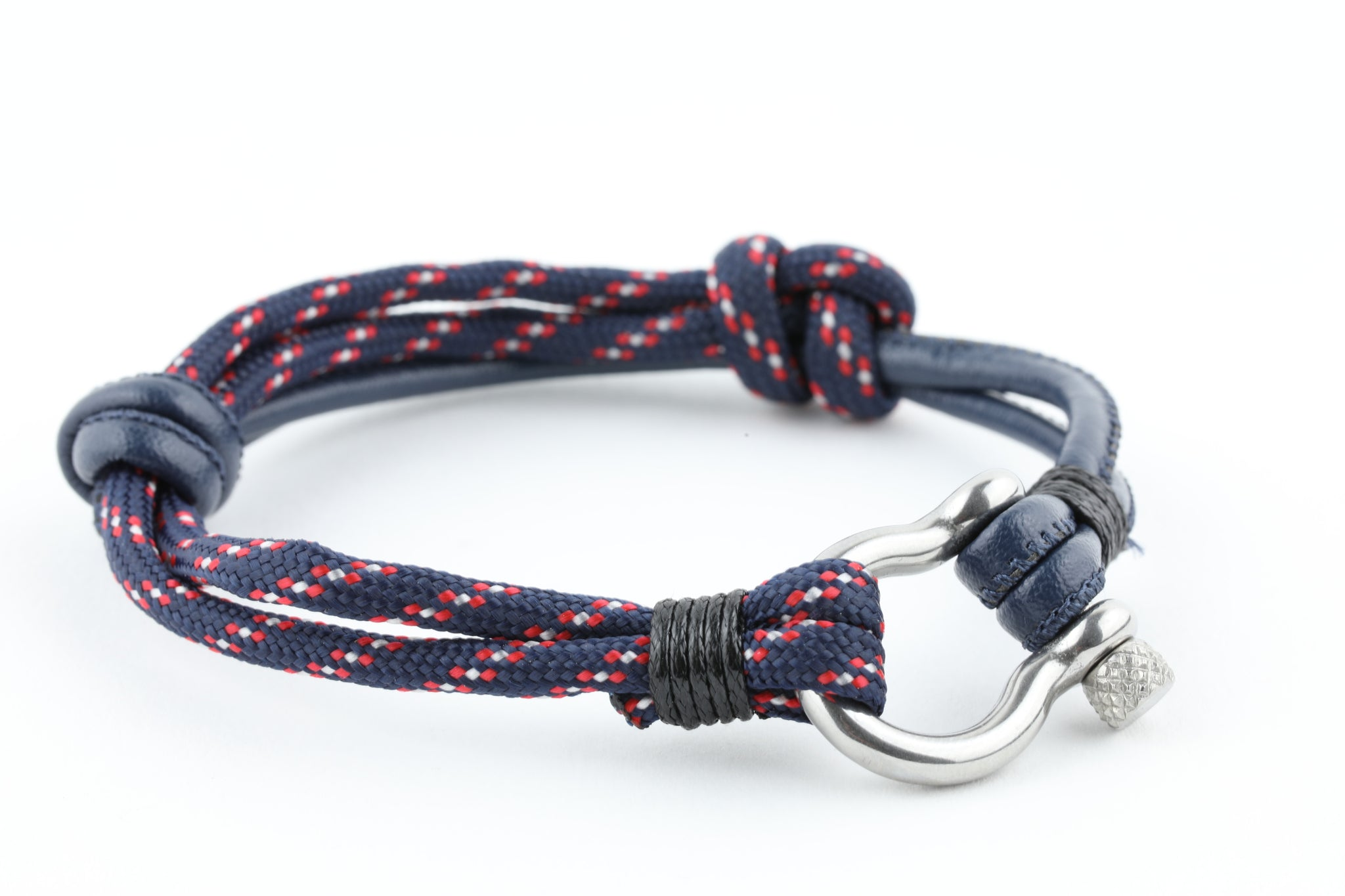 paracord anchor nautical rope bracelet mens pin