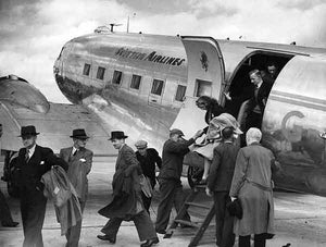Cleared for take-off (Print 1946 SCOTTISH AIRLINES FROM RENFREW)