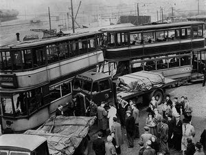 Cross the tracks... (Print 1949 Tram Crash at Cumbernauld Rd)