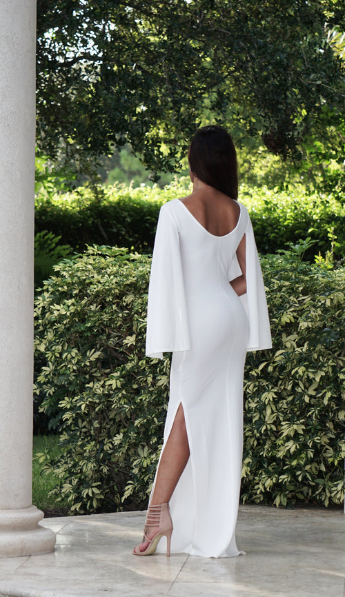 Elegant Cape Maxi Dress