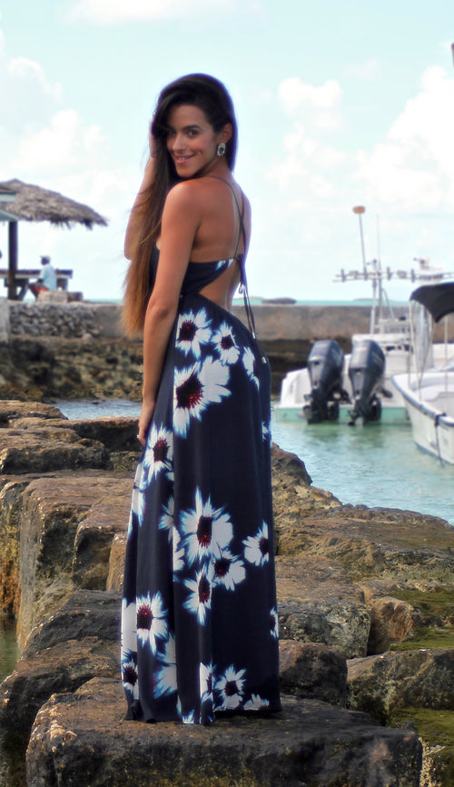 Floral Maxi with Keyhole Back