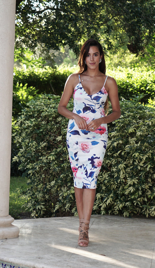 Rose Bodycon Dress