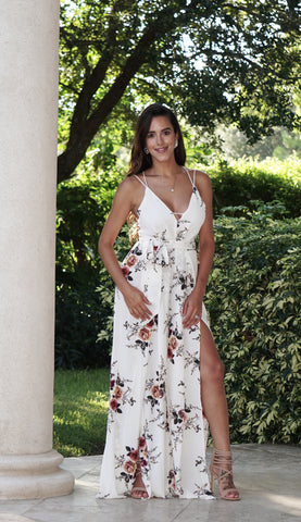 Elegant Floral Romper Dress