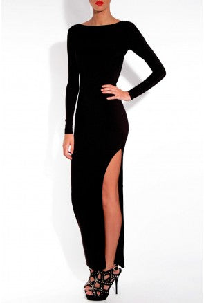 Bodycon Maxi Dress with Slit