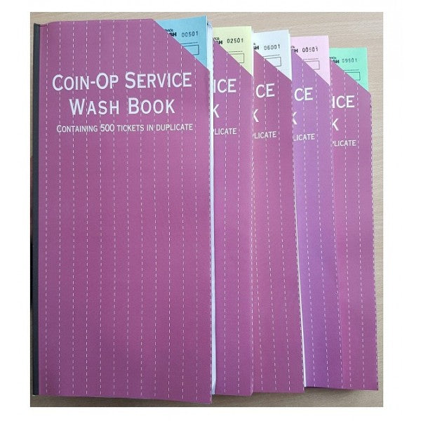 Laundry Ticket (Service Wash) Books 500 Duplicate Tickets -  All Colour