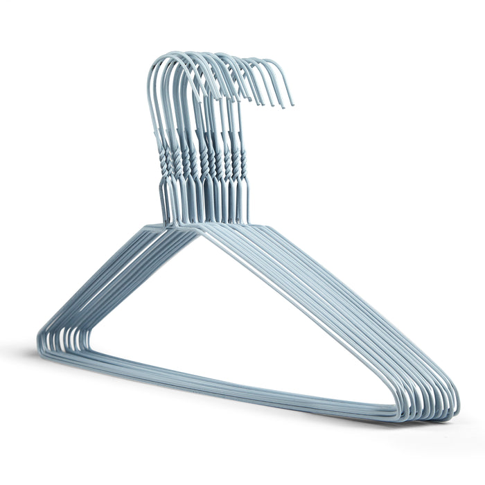 Plain White Metal Wire Coat Hangers 13G Box Of 500 — Hanger Xpress