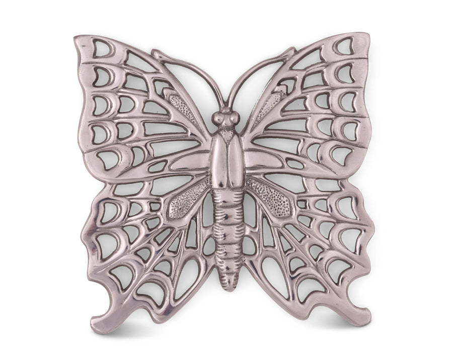 Arthur Court Designs Metal Aluminum Butterfly Stovetop / Table Trivet 8.5 Inches