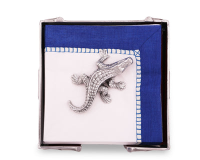 Arthur Court Easter Alligator Paper Napkin Weigh for Paper Napkin, Documents on a Desk, Dinner and Picnic Tables - Outdoor or Office Use,  Organization for Multiple Sizes - Durable Metal 3 Inch Long